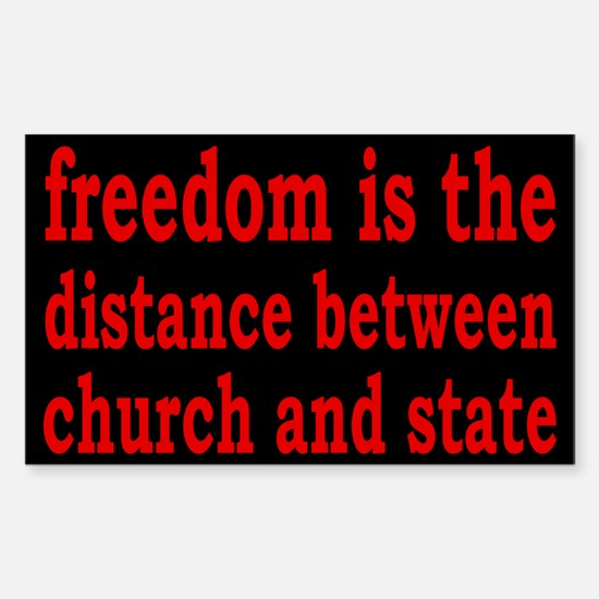 Separation of Church and State Sticker (Rectangle)