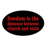 Separation of Church and State Sticker (Oval)