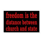 Separation of Church and State Car Magnet 20 x 12