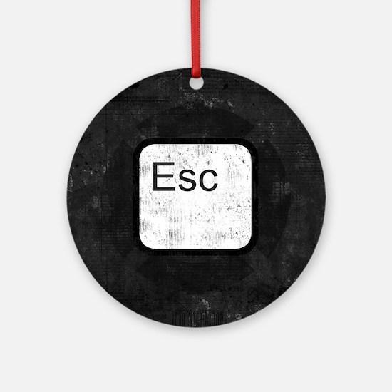 Esc Key Ornament (Round)