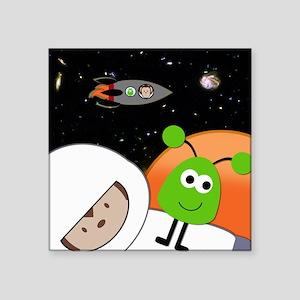Monkeys In Space Aliens Floating Sticker