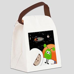 Monkeys In Space Aliens Floating Canvas Lunch Bag
