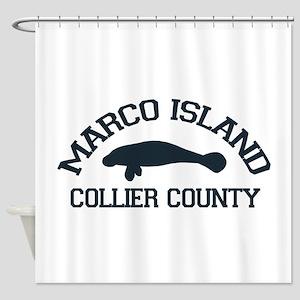Marco Island - Manatee Design. Shower Curtain