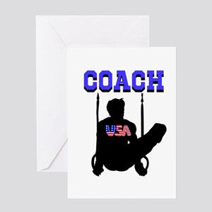 #1 GYMNAST COACH Greeting Card
