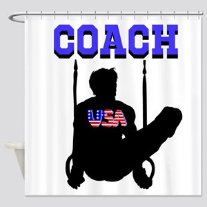 #1 GYMNAST COACH Shower Curtain