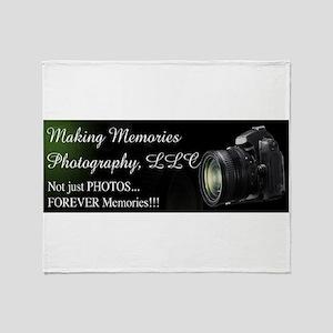 Making Memories Photography LLC Logo Throw Blanket