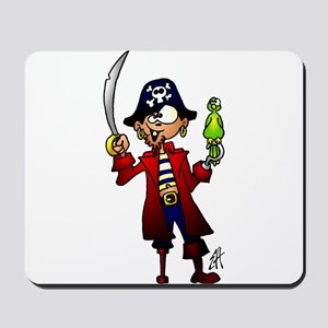 Pirate with sword and parrot Mousepad