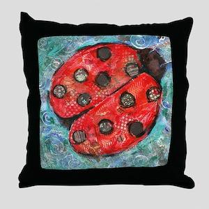 Lady Bug Throw Pillow