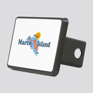Marco Island - Map Design. Rectangular Hitch Cover