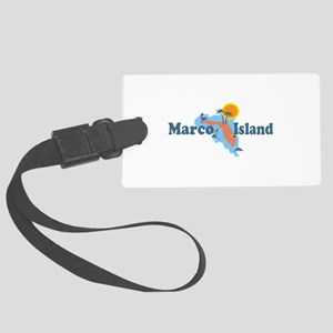 Marco Island - Map Design. Large Luggage Tag