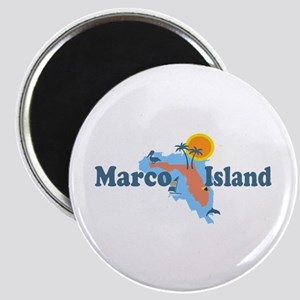 Marco Island - Map Design. Magnet