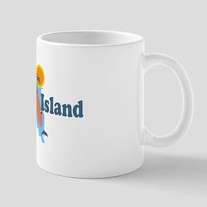 Marco Island - Map Design. Mug