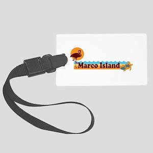 Marco Island - Beach Design. Large Luggage Tag