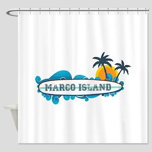 Marco Island - Surf Design. Shower Curtain