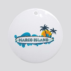 Marco Island - Surf Design. Ornament (Round)