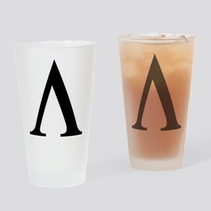 Greek Lambda Spartan Symbol Drinking Glass