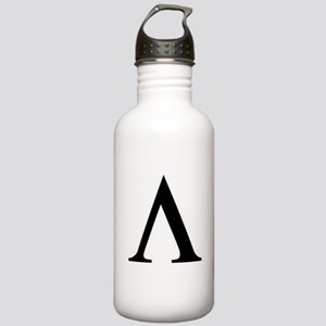 Greek Lambda Spartan Symbol Water Bottle