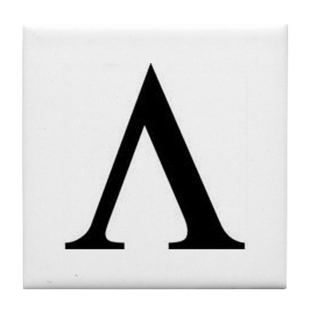 Greek Lambda Spartan Symbol Tile Coaster By Listing Store 108881946