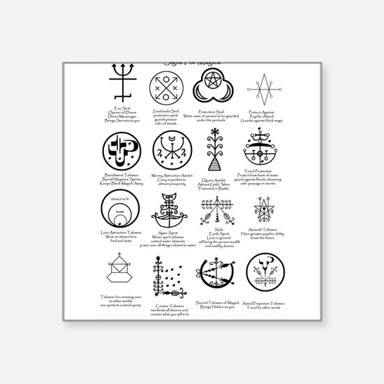Occult Magick: Sigils of Spells Sticker. PAGAN &am