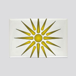 Macedonia Vergina Star Rectangle Magnet