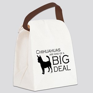Chihuahua Big Deal Canvas Lunch Bag