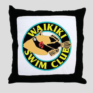 Waikiki Swim Club Logo Throw Pillow