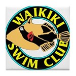 Waikiki Swim Club Logo Tile Coaster