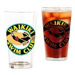 Waikiki Swim Club Logo Drinking Glass