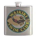 Waikiki Swim Club Logo Flask