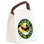 Waikiki Swim Club Logo Canvas Lunch Bag