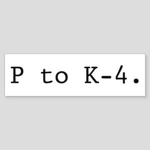 Twin Peaks P to K-4. Bumper Sticker