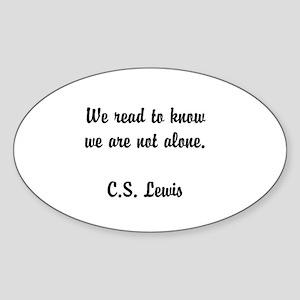 CS Lewis Not Alone (2) Sticker