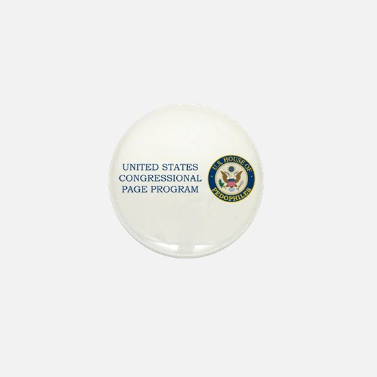 US House of Pedofiles Seal Mini Button