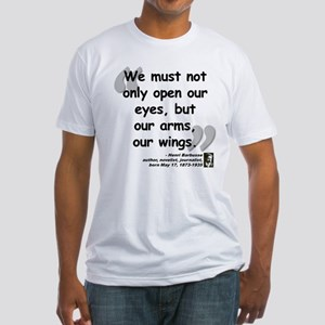 Barbusse Wings Quote Fitted T-Shirt