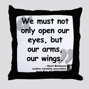 Barbusse Wings Quote Throw Pillow