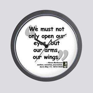 Barbusse Wings Quote Wall Clock