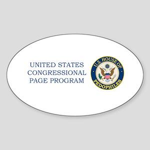 Mark Foley Page Program Oval Sticker