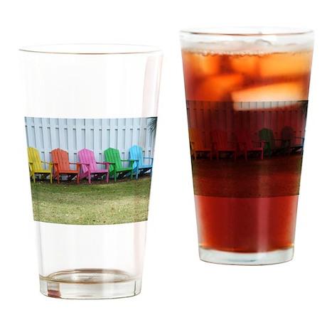Beach / Adirondack Chairs Drinking Glass