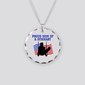 PROUD GYMNAST MOM Necklace Circle Charm