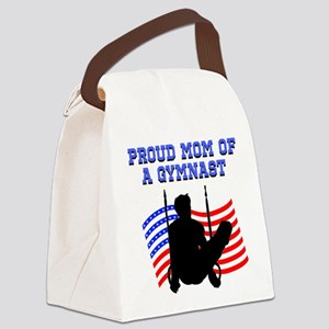 PROUD GYMNAST MOM Canvas Lunch Bag