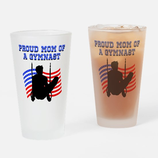 PROUD GYMNAST MOM Drinking Glass