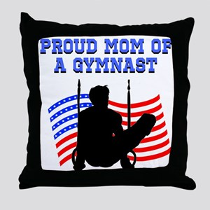 PROUD GYMNAST MOM Throw Pillow