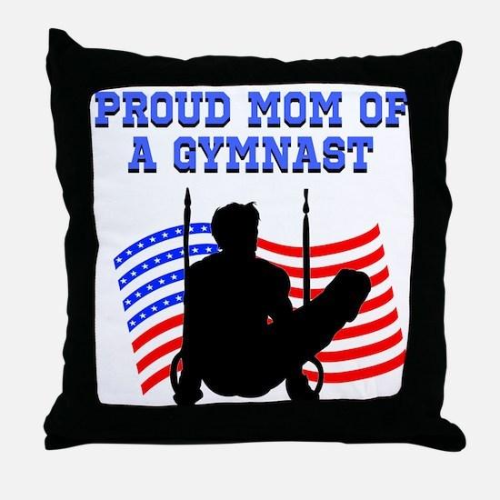 PROUD GYMNAST MOM Throw Pillow