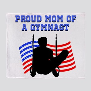 PROUD GYMNAST MOM Throw Blanket