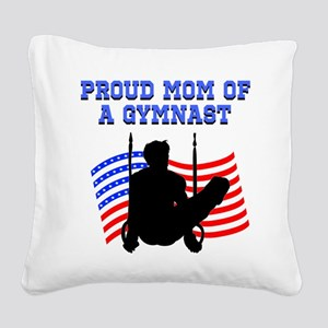 PROUD GYMNAST MOM Square Canvas Pillow