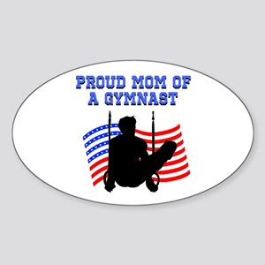 PROUD GYMNAST MOM Sticker (Oval)