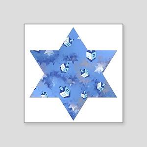 Judaica Dreidels Stars Star Of David Sticker
