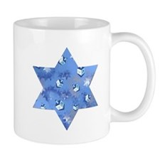 Judaica Dreidels Stars Star Of David Mug