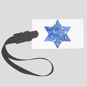 Judaica Dreidels Stars Star Of David Luggage Tag