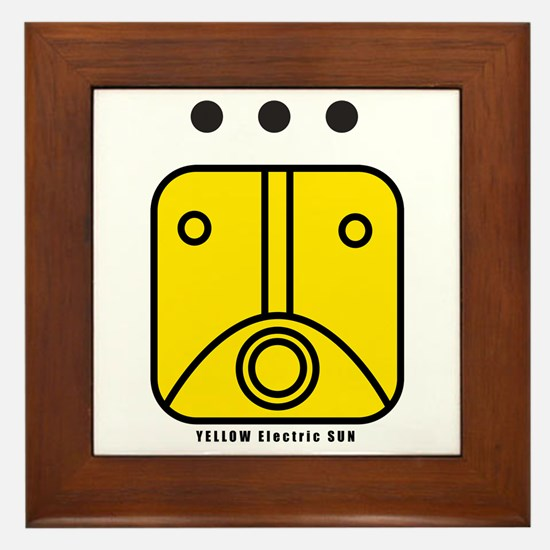 YELLOW Electric SUN Framed Tile